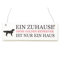 Holzschild Golden Retriever